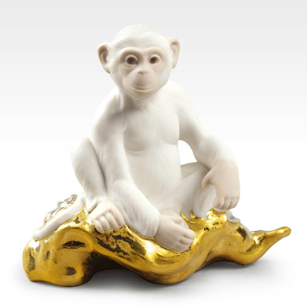 リヤドロ LLADRO The monkey-小 置物 フィギュアオーナメント 9175【お取り寄せ】