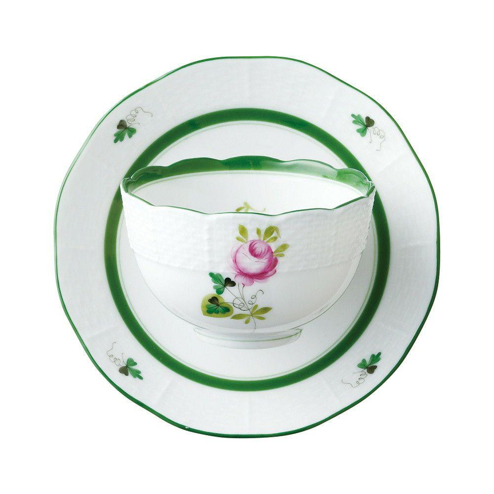 ヘレンド HEREND 湯のみ VRH ウィーンの薔薇 ジャパニーズティーカップ&ソーサー #708 130cc【お取り寄せ】