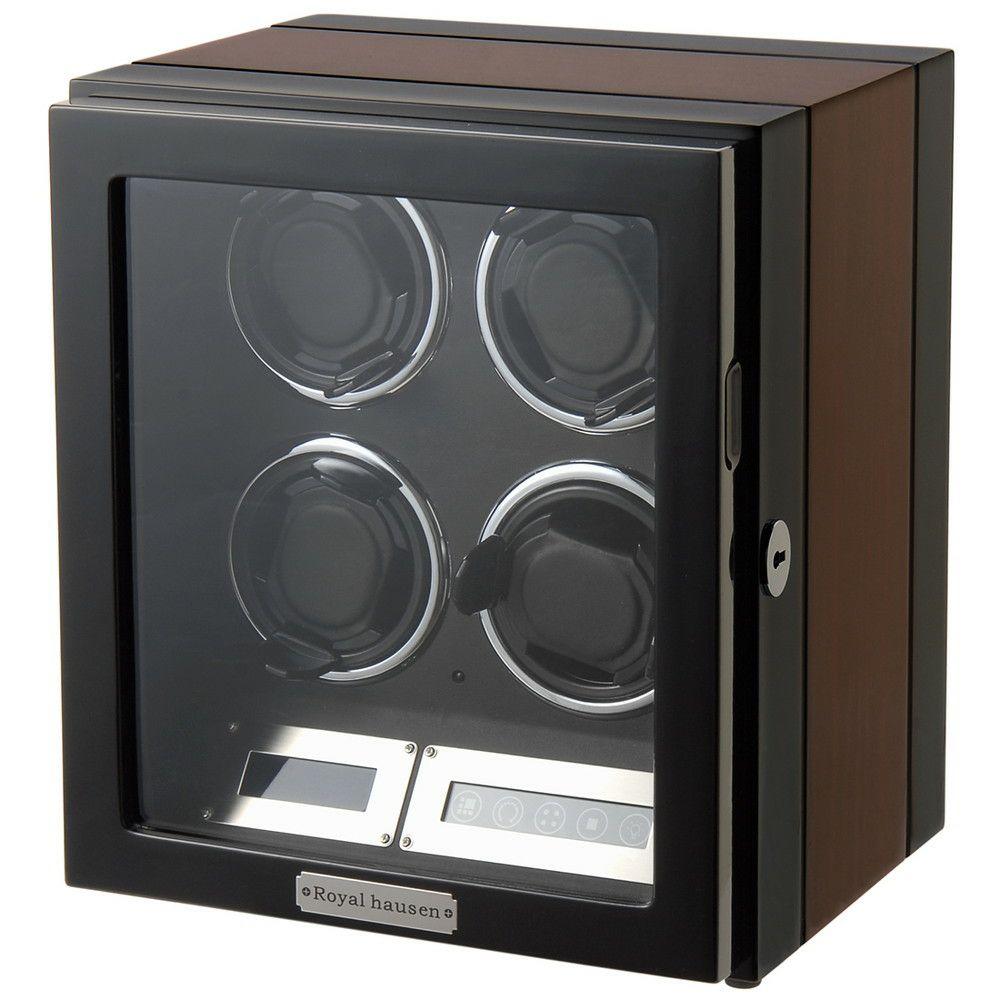 ロイヤルハウゼン 時計 ワインディングマシーン ウォッチワインダー GC03-Q21EB 4本巻き BRONW/BLACK ROYAL HAUSEN