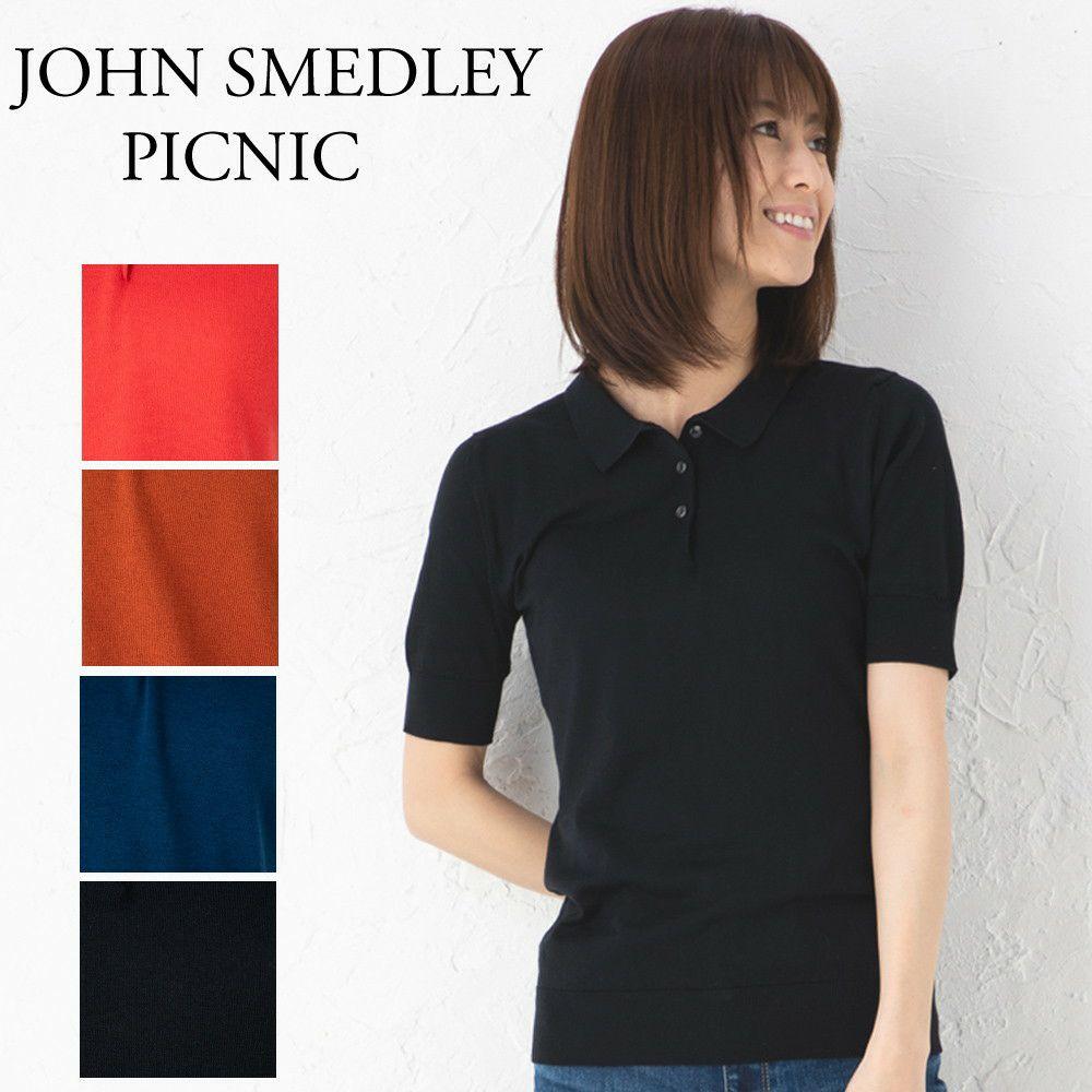 ジョンスメドレー レディース ポロシャツ PICNIC :ピクニック 選べるカラー JOHN SMEDLEY