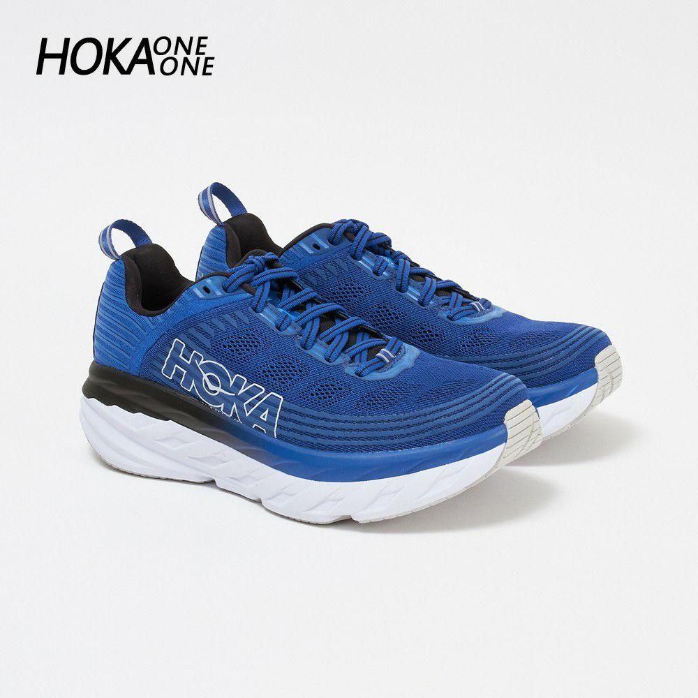 ホカ オネオネ メンズ スニーカー BONDI 6 1019269 ブルー系 GALAXY BLUE/ANTHRACITE HOKA ONE ONE