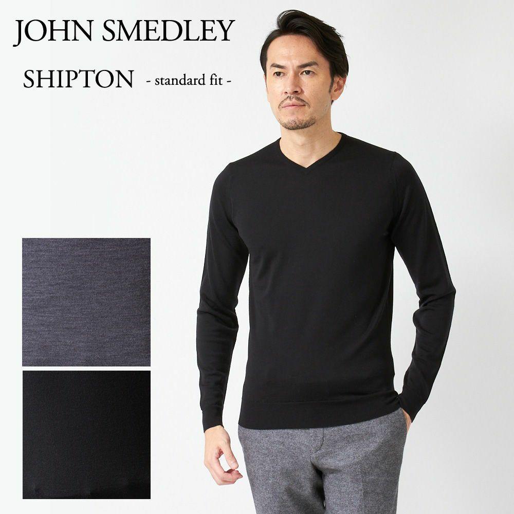 ジョンスメドレー メンズ Vネックニット JOHN SMEDLEY SHIPTON 502534 選べるカラー
