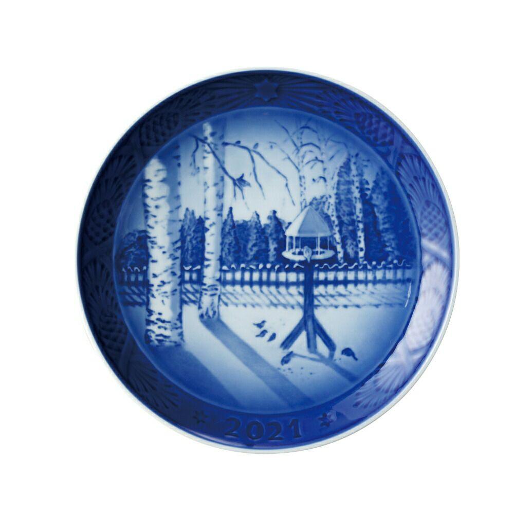 ロイヤルコペンハーゲン インテリア雑貨 飾り皿 イヤープレート 2021年 WINTER IN THE GARDEN ROYAL COPENHARGEN