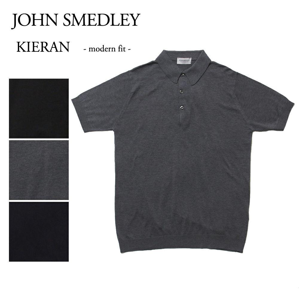 ジョンスメドレー メンズ 半袖 ニットポロシャツ KIERAN 選べるカラー JOHN SMEDLEY