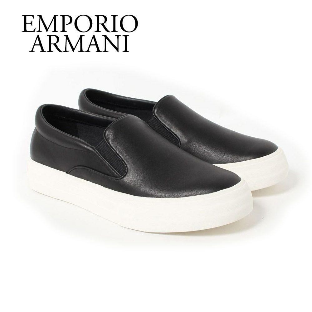 エンポリオアルマーニ メンズスリッポン スニーカー X4J102 XF532 00002 BLACK EMPORIO ARMANI